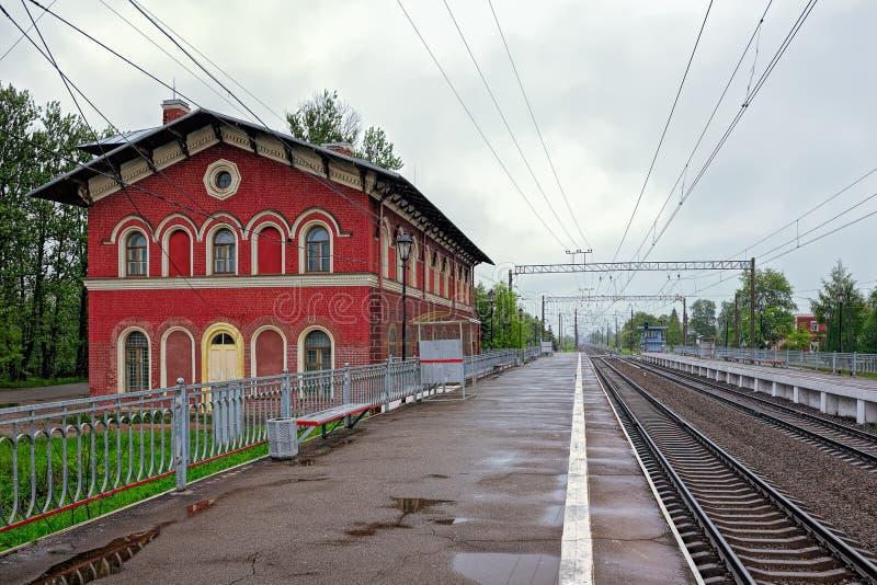 Вокзал Strelna стоковые фотографии rf