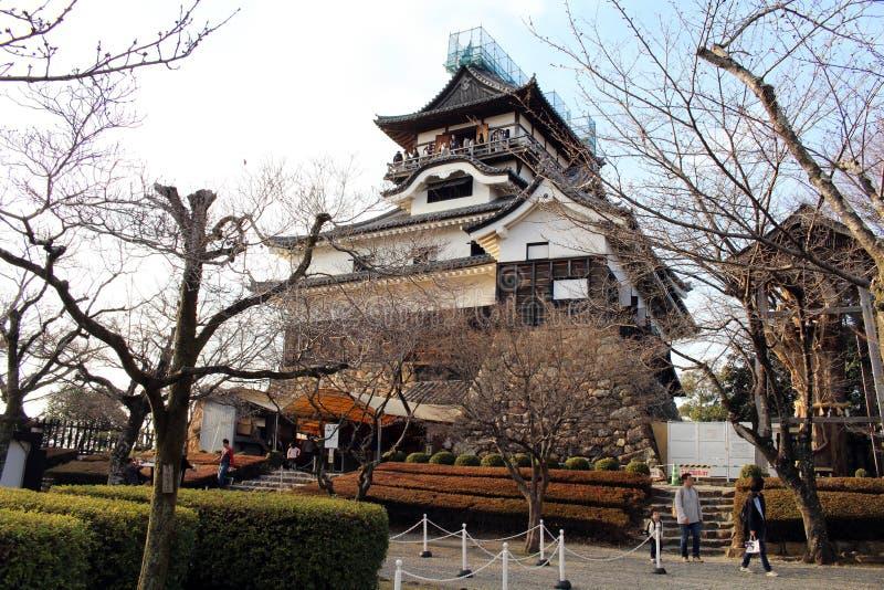 Вокруг замка Inuyama в Префектуре Айти Размещенный Kiso r стоковое изображение rf