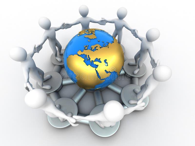 вокруг людей группы земли иллюстрация вектора