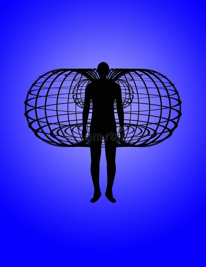 вокруг сердца поля toroidal иллюстрация вектора