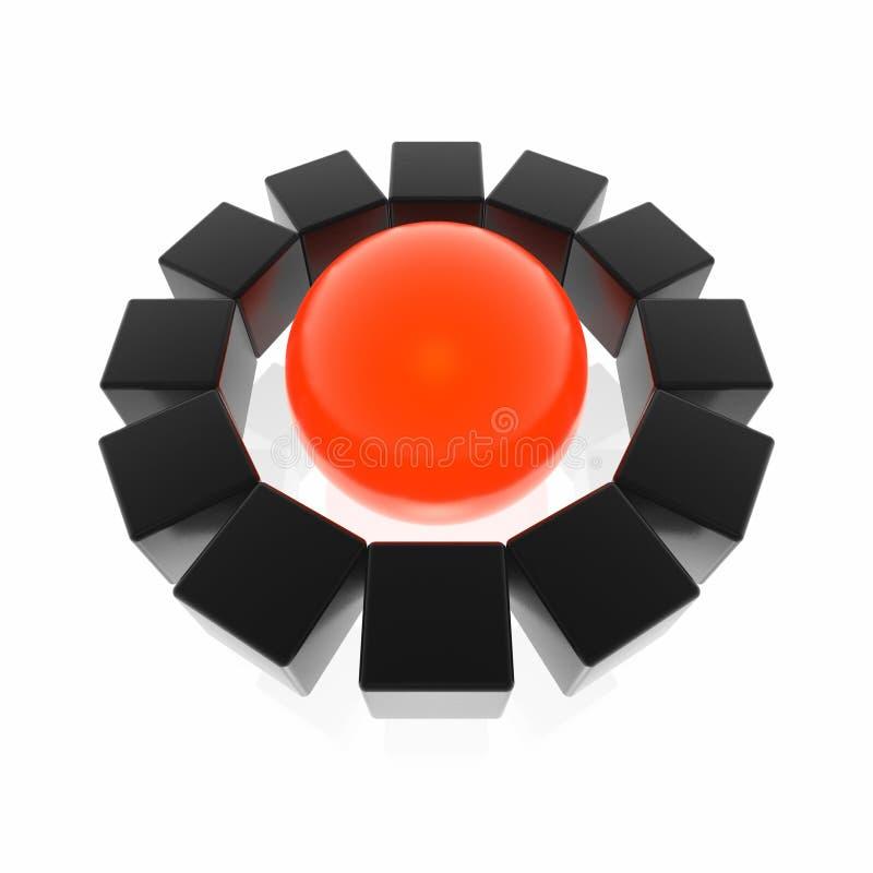Download вокруг сферы кубиков иллюстрация штока. иллюстрации насчитывающей insider - 6856413