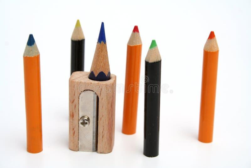 вокруг точилки для карандашей цвета необыкновенной стоковое изображение