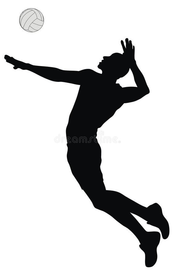 волейбол игрока иллюстрация вектора
