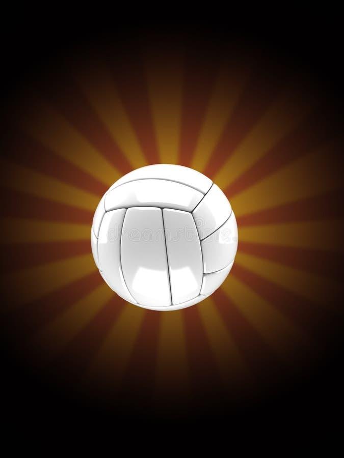Волейбол на предпосылке лучей иллюстрация штока