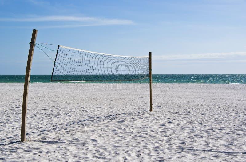 волейбол пляжа пустой сетчатый стоковые фотографии rf