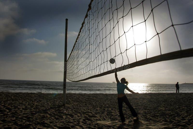 волейбол пляжа стоковая фотография