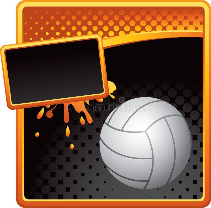 волейбол померанца halftone знамени черный бесплатная иллюстрация
