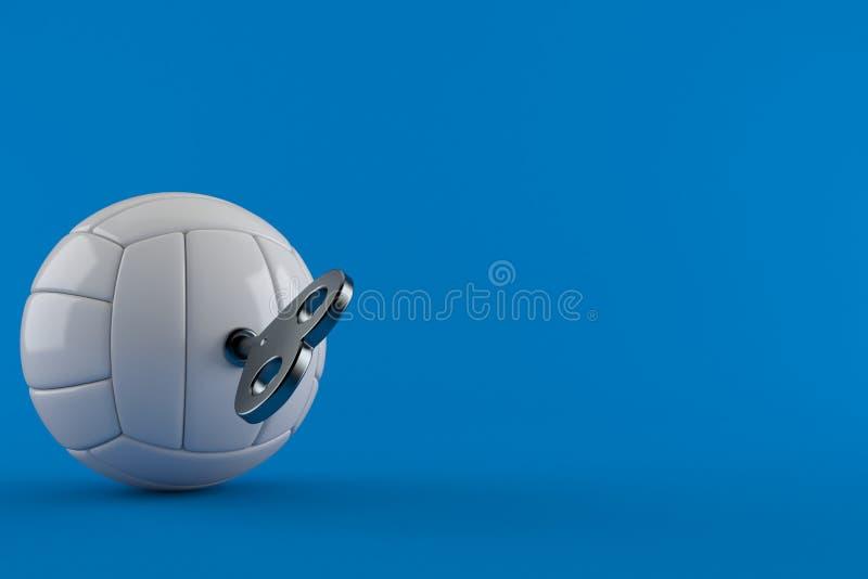 Волейбол с ключом clockwork иллюстрация штока