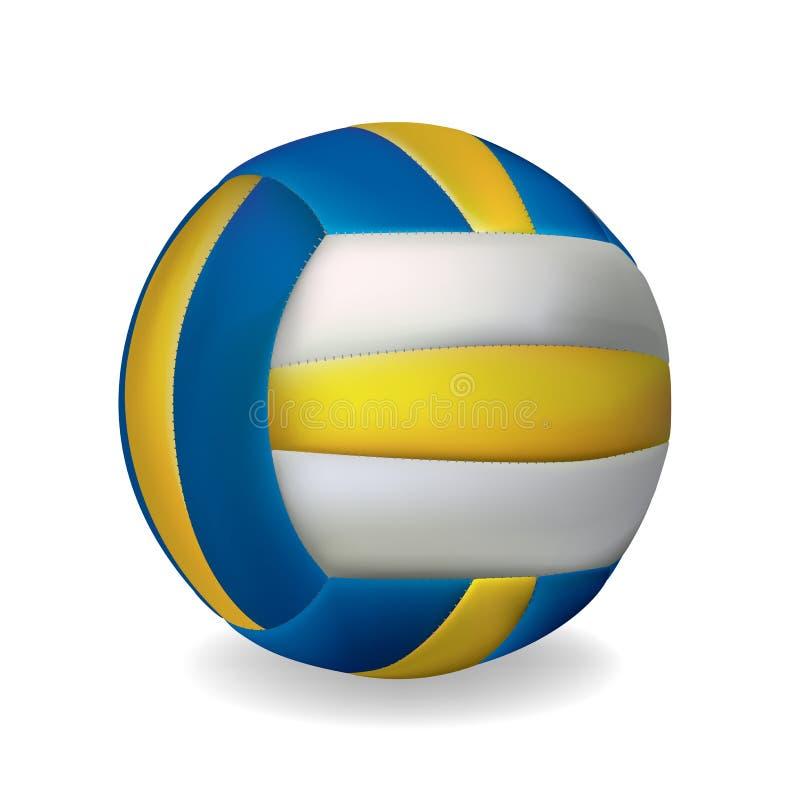 волейбол шарика иллюстрация вектора