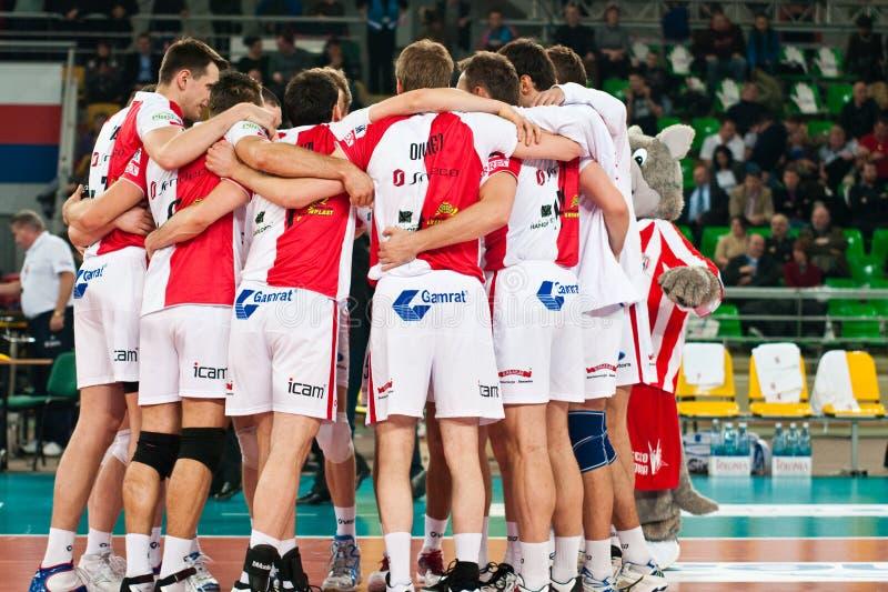 волейбол enea Польши чашки стоковое фото