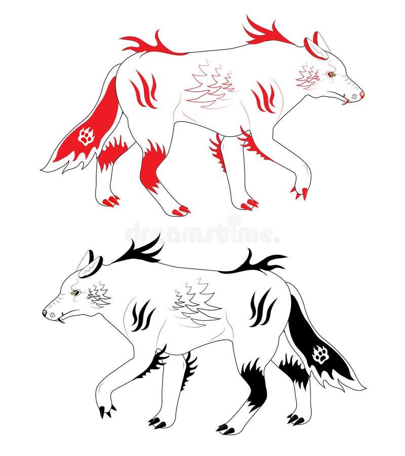 волки снежка иллюстрация штока
