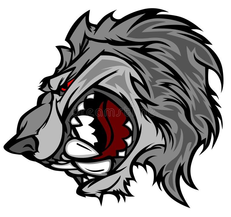 волк вектора талисмана логоса шаржа
