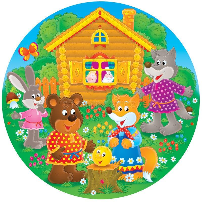 волк кролика лисицы медведя бесплатная иллюстрация