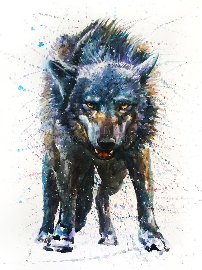 Волк - последний бой иллюстрация штока