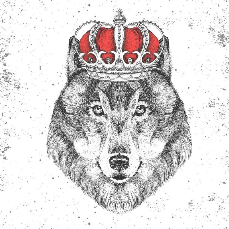 Картинка волк в короне