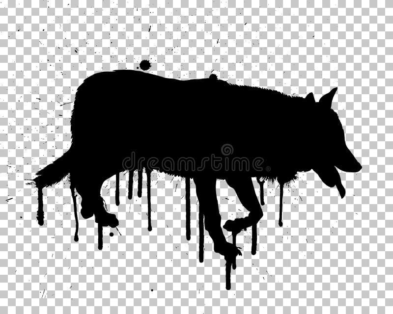 Волк Grunge иллюстрация штока