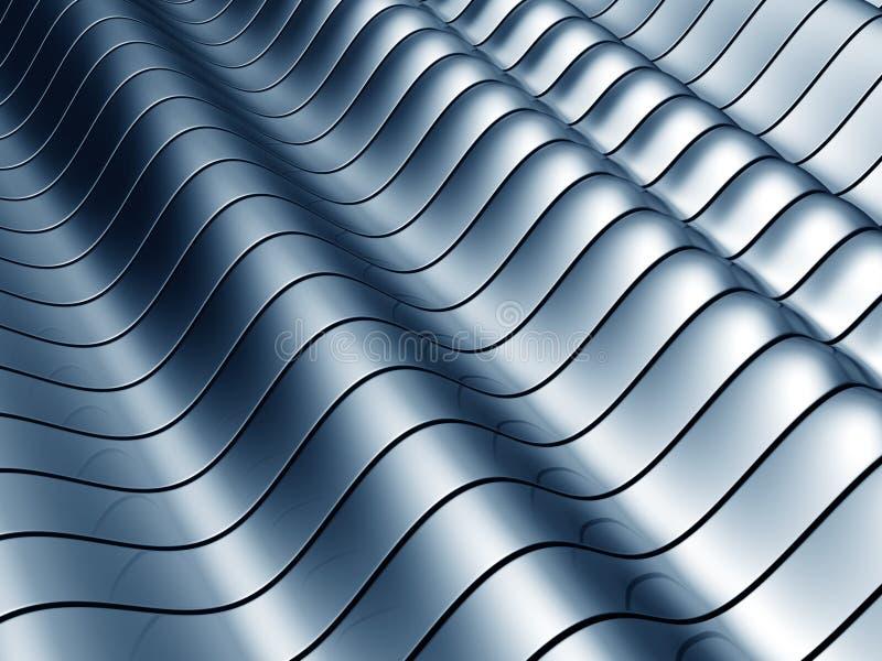 волна абстрактной предпосылки стальная иллюстрация вектора