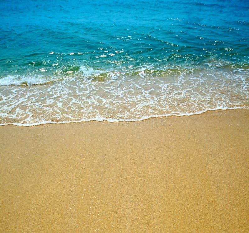 волна воды песка стоковое изображение