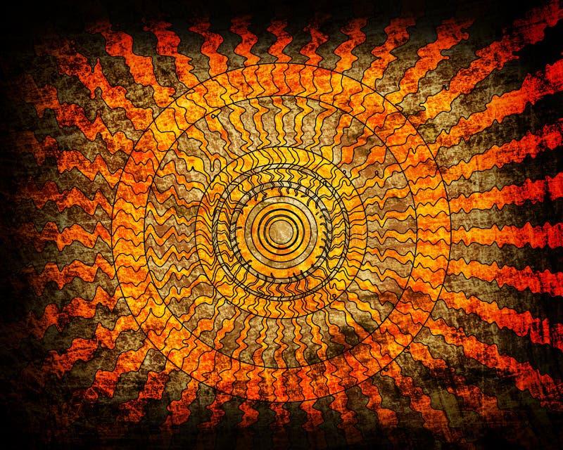 волна восхода солнца grunge предпосылки бесплатная иллюстрация