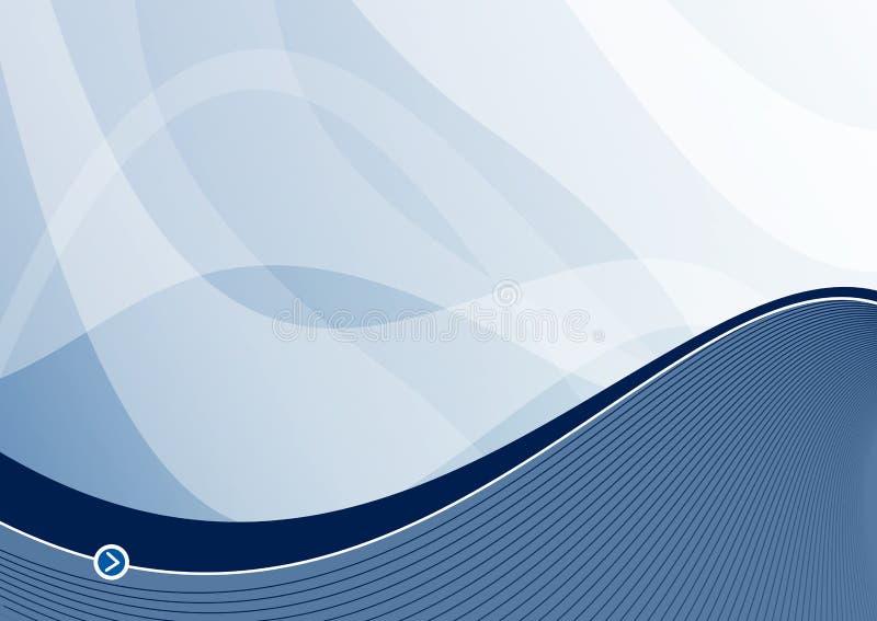 волна голубого ландшафта предпосылки стальная иллюстрация вектора