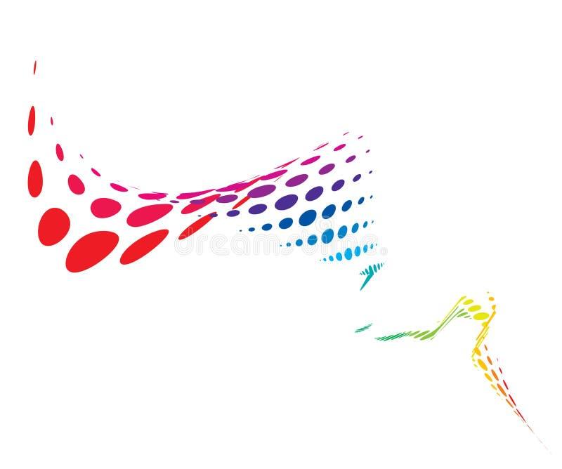 волна дыма halftone иллюстрация вектора