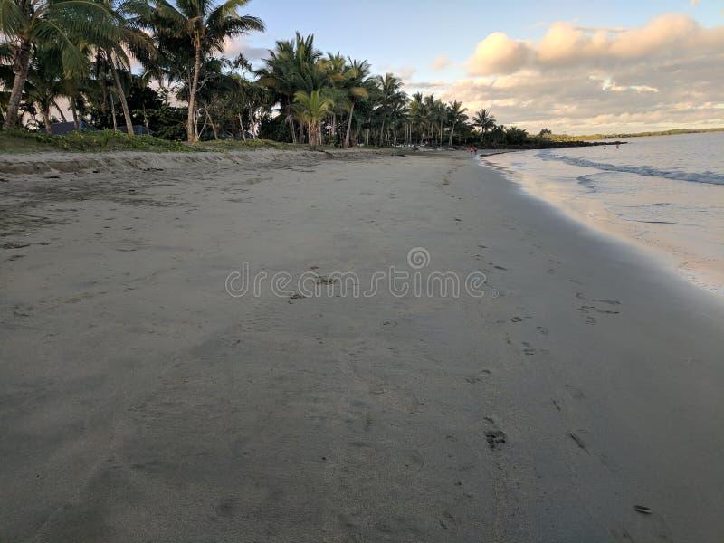 Волна и пляж, залив, Тихая океан гавань, остров Viti, Острова Фиджи стоковые изображения