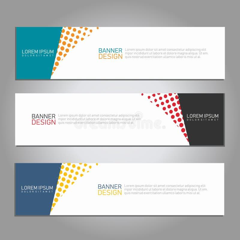 Волна конспекта вектора и шаблон знамени геометрического дизайна полутонового изображения для издания и других потребителей иллюстрация штока