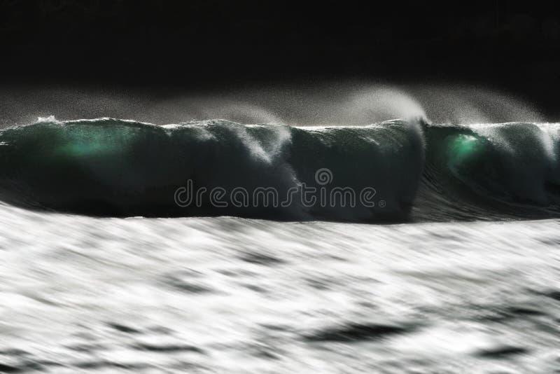 Волна моря завальцовки стоковое фото rf