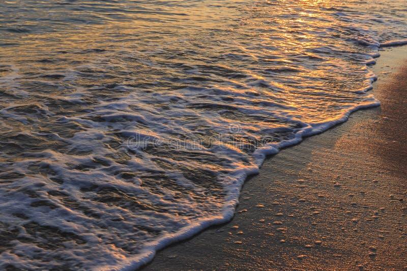 Волна моря свертывает к пляжу стоковое фото