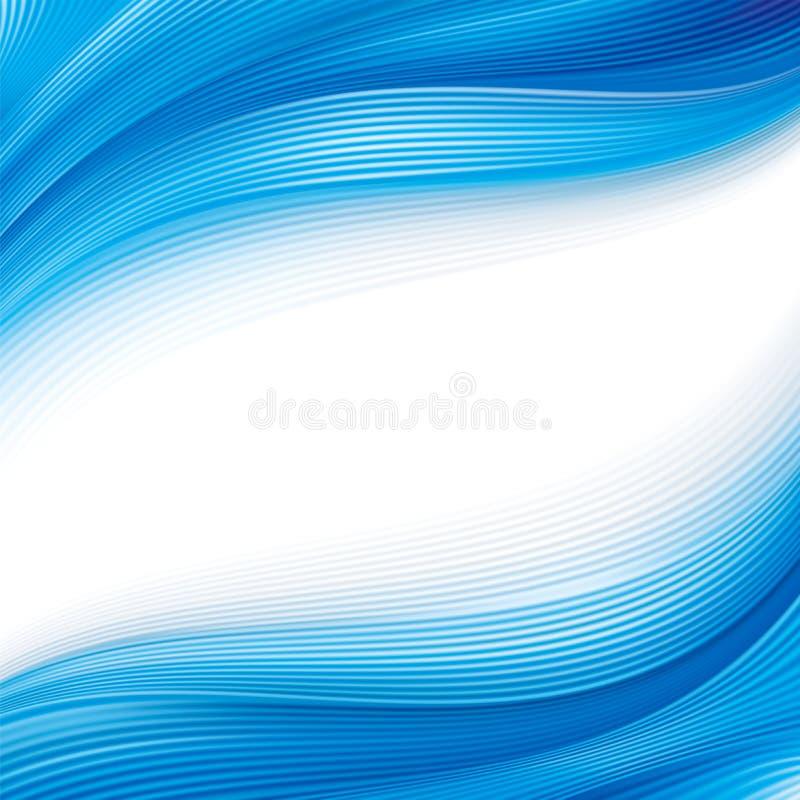 волна предпосылки голубая иллюстрация вектора