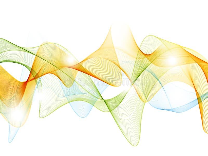 волна предпосылки графическая иллюстрация вектора