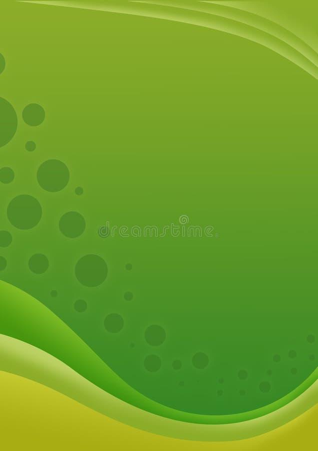волна предпосылки зеленая иллюстрация вектора