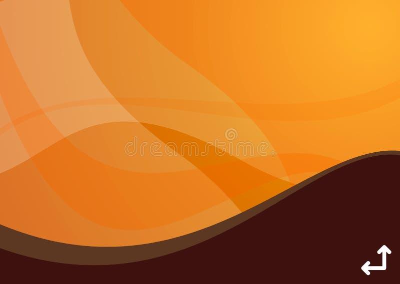 волна предпосылки померанцовая иллюстрация вектора