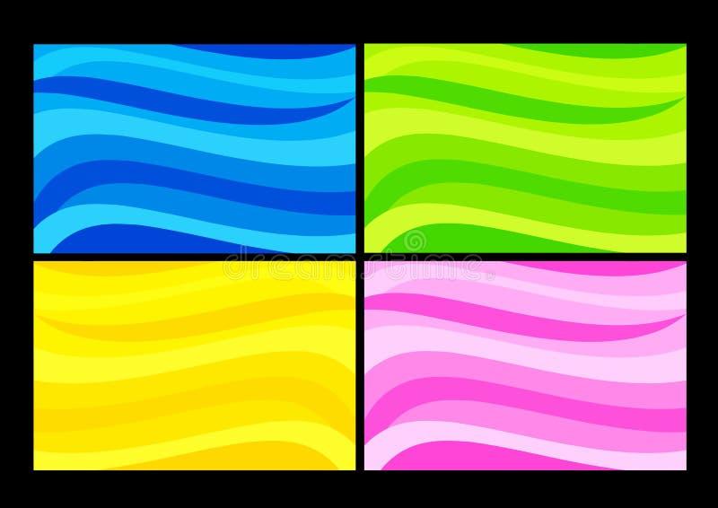 волна предпосылок иллюстрация вектора
