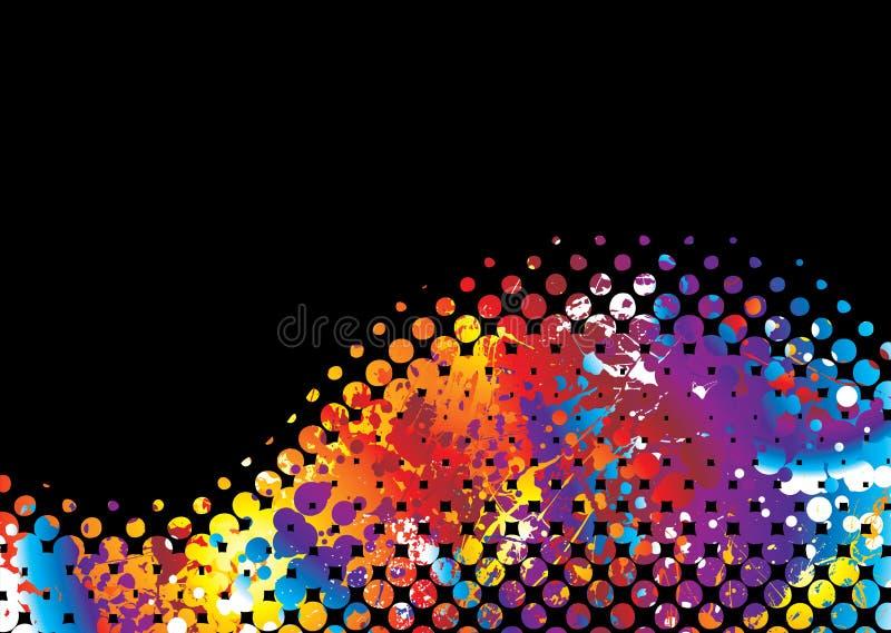 волна радуги halftone бесплатная иллюстрация