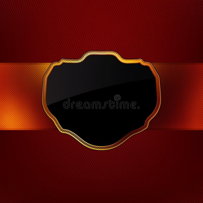 волна сбора винограда золота рамки eps 8 предпосылок красная иллюстрация штока