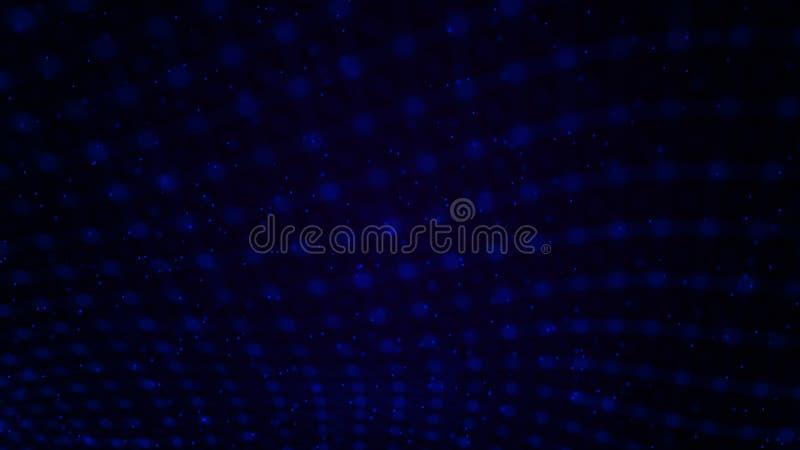 Волна с точками Сеть частиц соединенных линиями Иллюстрация решетки Космическая предпосылка r иллюстрация штока