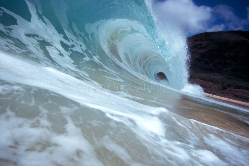 волна трубопровода берега стоковые фото