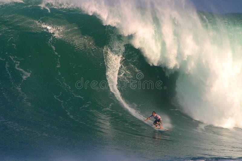 волна eddie большого состязания aikau занимаясь серфингом стоковая фотография rf