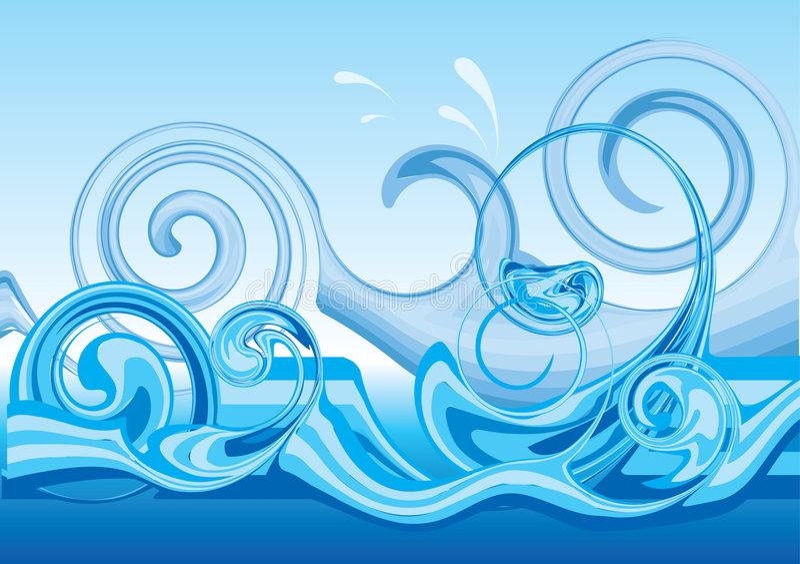 волна stylished конструкцией иллюстрация вектора