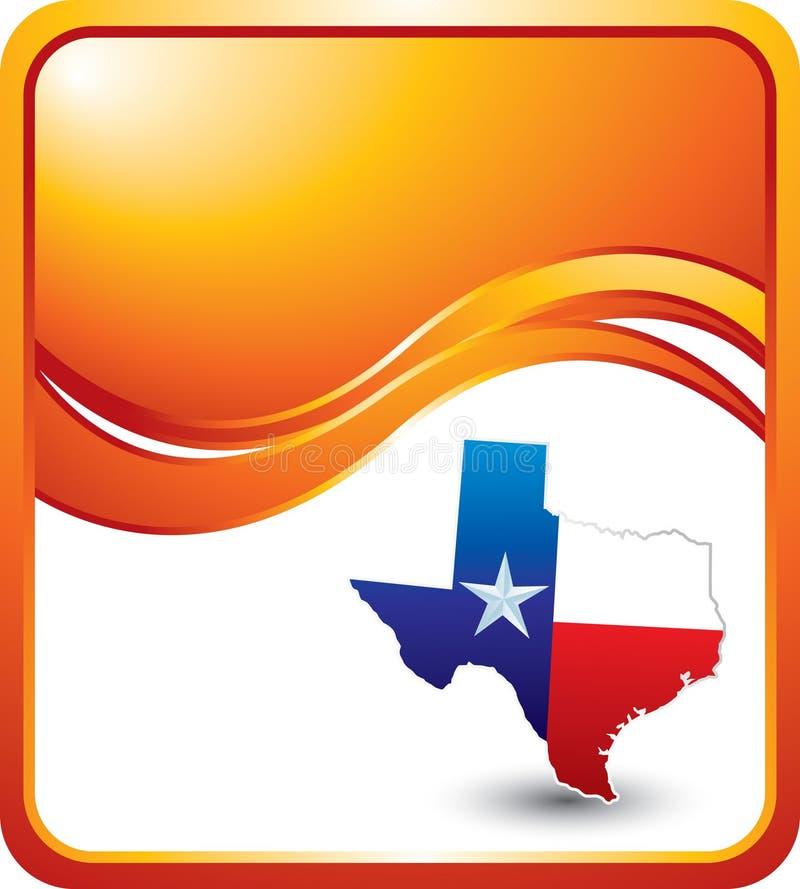 волна texas иконы предпосылки померанцовая иллюстрация вектора