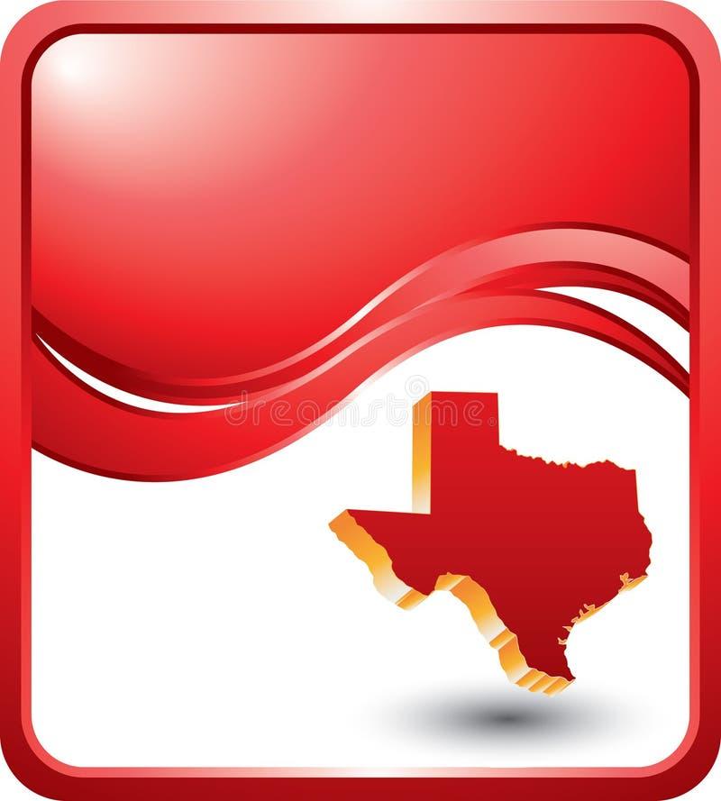 волна texas иконы предпосылок красная иллюстрация штока