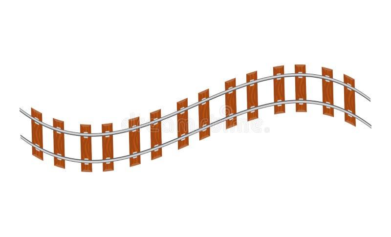Волнистая поворачивая железная дорога бесплатная иллюстрация