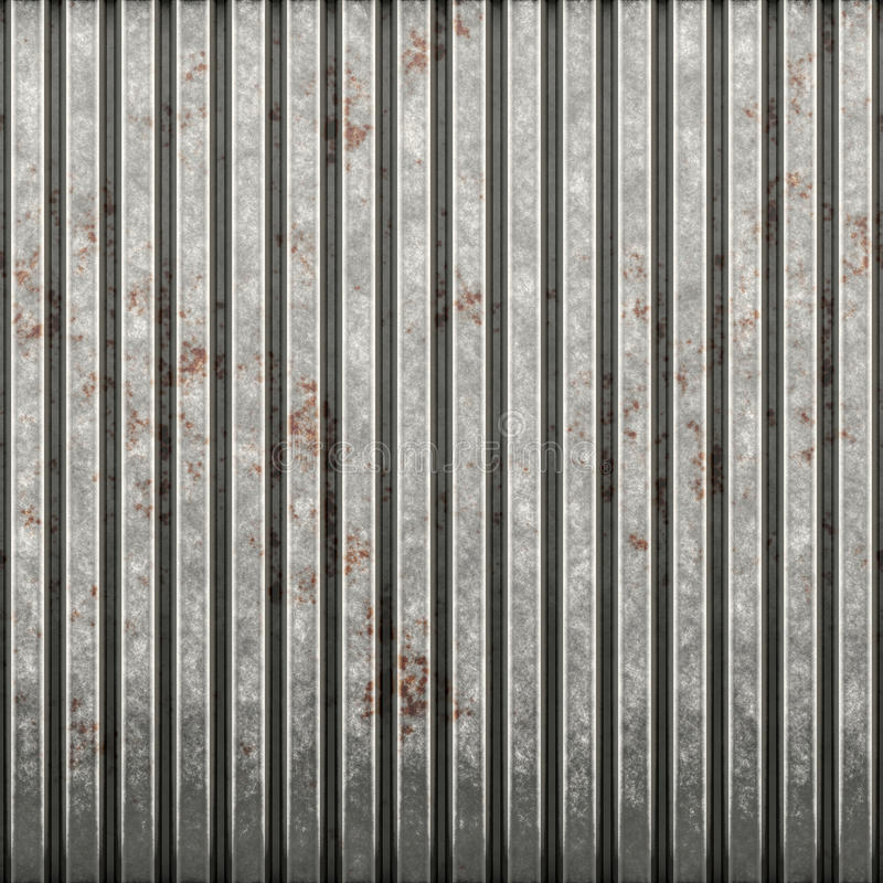 волнистое железо ржавое иллюстрация вектора