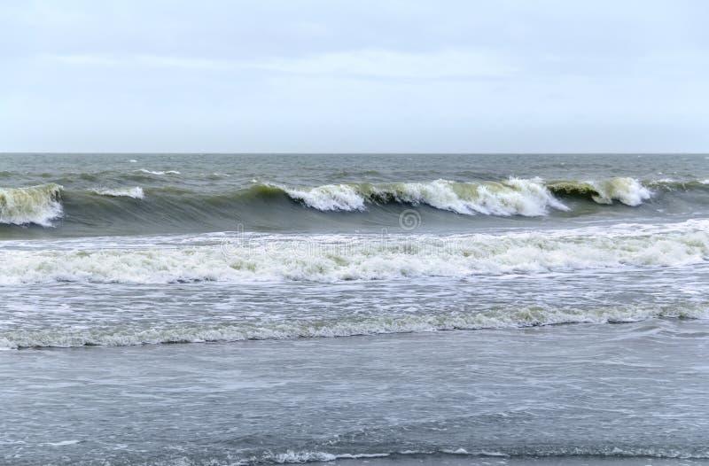 Волнисто пейзаж океана стоковое изображение rf