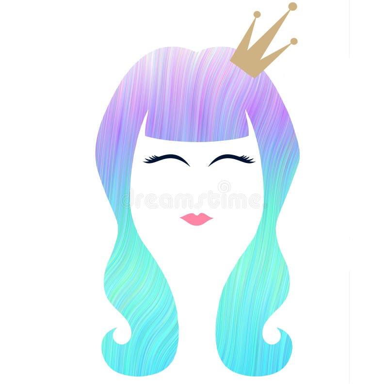 Волнистые волосы русалки стоковые изображения rf