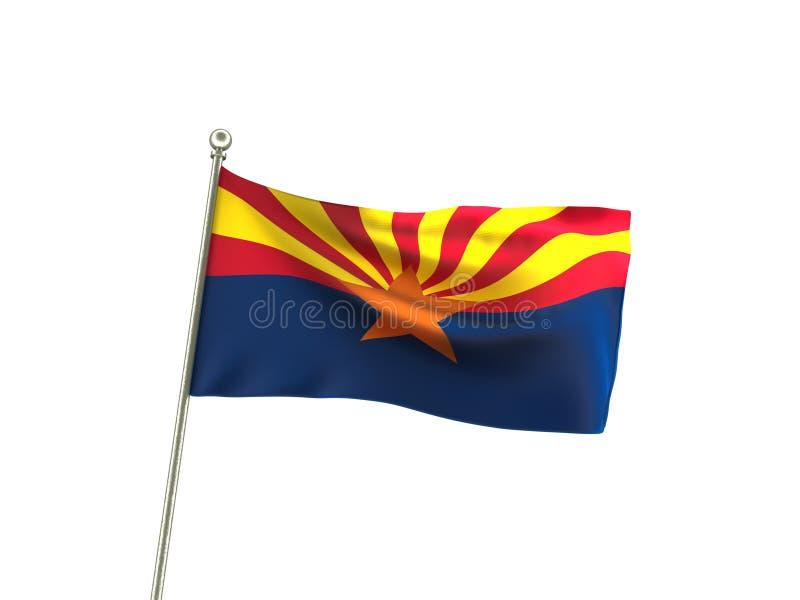 Волнистый флаг Аризоны стоковые изображения rf