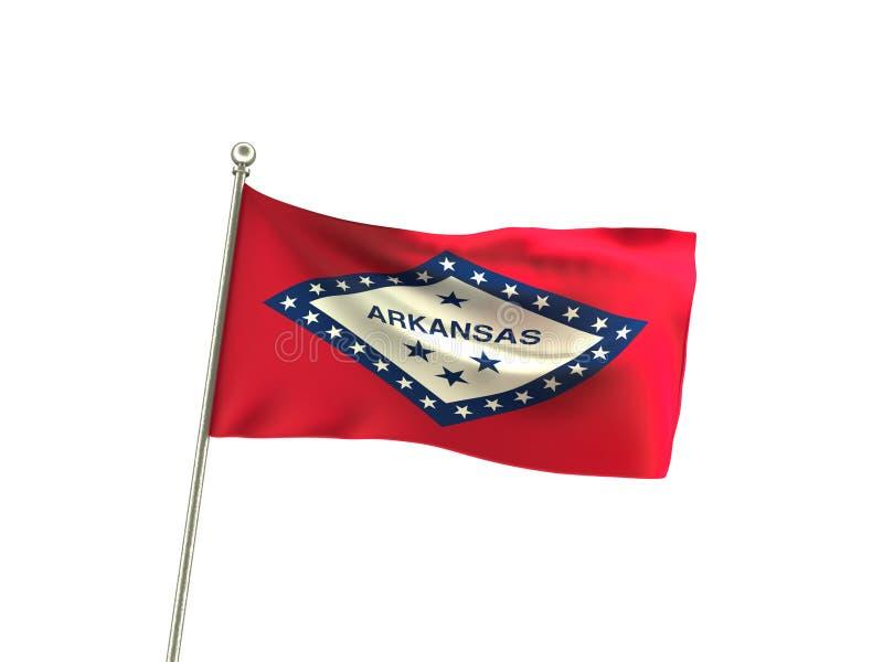 Волнистый флаг Арканзаса стоковое фото