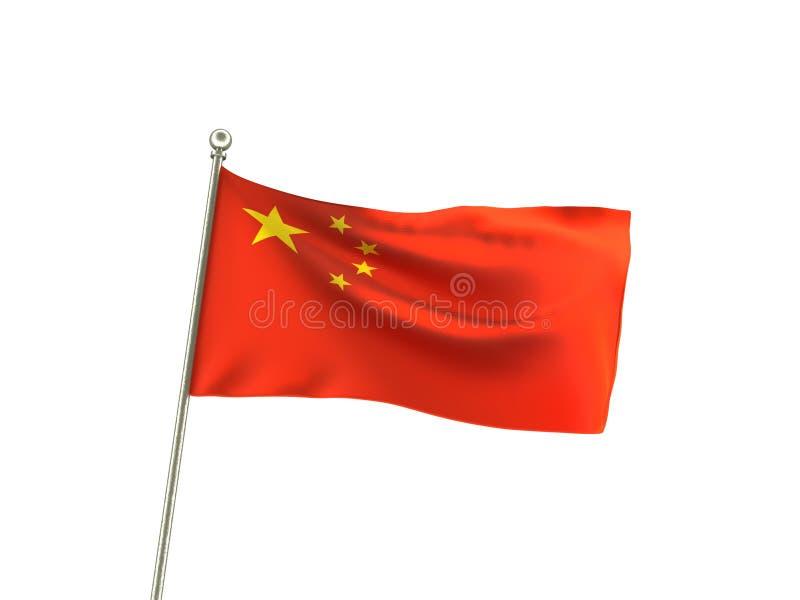Волнистый флаг Бразилия Китая республики иллюстрация вектора