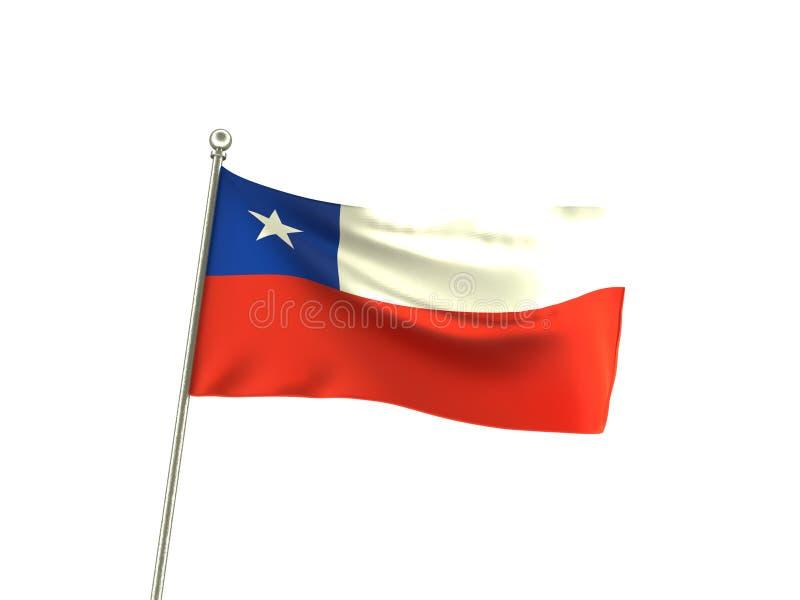 Волнистый флаг Бразилия Чили иллюстрация штока